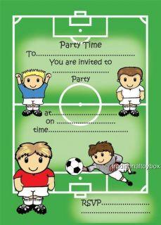 Football Party Invitations Invites Boys Birthday New