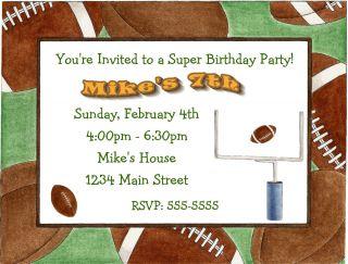 Football Sports Fall Custom Personalized Super Bowl Birthday Party