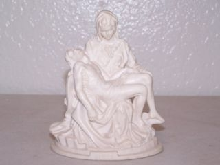 1980 Alabaster Religious Figurine the Pieta by A. Santini Made in