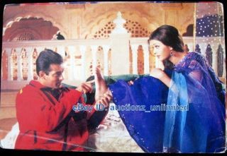 Bollywood Actor Salman Khan Aishwarya Rai India Star RARE Old Post