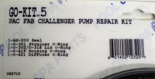 Aladdin Go Kit 5 Pac Fab Challenger Pump Repair Kit