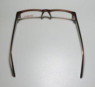 New Alain Mikli 702 51 17 143 Brown Plastic Frames Eyeglasses Glasses