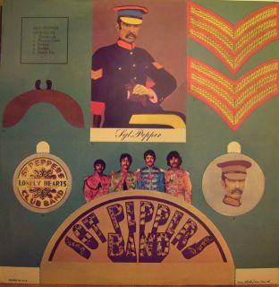 THE BEATLES Sgt Peppers LP w/insert original CAPITOL SMAS 2653