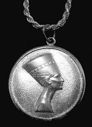 Silver Egyptian Egypt Queen Nefertiti Pendant Jewelry