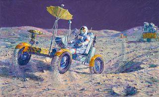 Alan Bean Lunar Grand Prix Apollo 16 Astronaut John Young Moon NASA