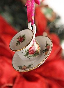 Royal Albert Old Country Roses Tea Cup Saucer Ornament