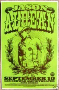 JASON ALDEAN 2009 Gig POSTER Bend Oregon Concert