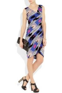 2012 New $386 Alice by Temperley London Printed Ruched Jersey Dress US