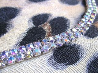 Double 2 Two Row Strand AB Crystal Diamante Tiara Head Hair Band