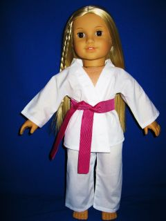 American Girl Doll Clothes Homemade Karate Suit Set fit 18 all AG