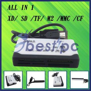 USA All in 1 Multi Memory Card USB Reader SD SDHC Mini Micro M2 MMC XD