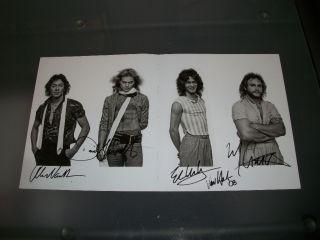 Van Halen Signed Poster Original 4 Eddie David Lee Roth Alex Michael