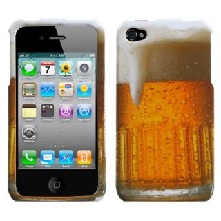 Cool Alcohol Beverage Beer Mug Cup Hard Cover Case for iPhone 4 4S 4G