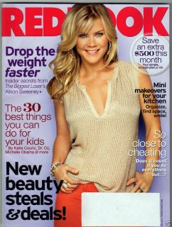 REDBOOK MAY 2012 ALISON SWEENEY BIGGEST LOSER DR OZ KATIE COURIC