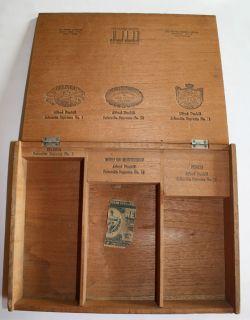 Alfred Dunhill wood cigar box supreme sampler Belinda Hoyo Punch