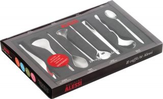 Alessi Set of 4 Modern Love Heart Coffee Spoons Valentines Gift Set