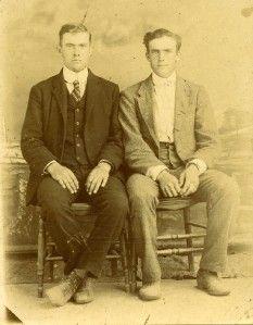Vintage 1890s Photo 2 School Teachers Frank Alex James