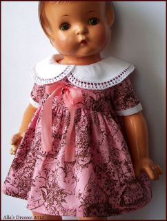 Allas Vintage Dress for Effanbee Patsy Ann 19 Baby Doll Repro OOAK