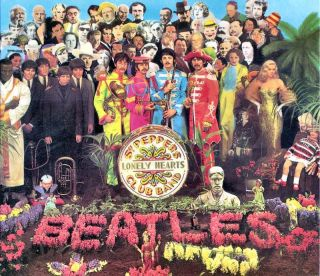 Beatles Sgt Pepper Lonely Hearts Club Band Cover Fleece Throw Blanket