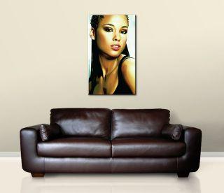 Alicia Keys Original Canvas Art Painting 30 x 18