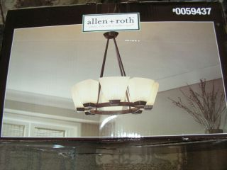 Allen Roth 8 Light Chandelier Dark Oil Rubbed Bronze LPH 9909 8