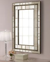 XL Large Art Deco Glamour 50 Wall Mirror Antiqued Beveled Mirrors