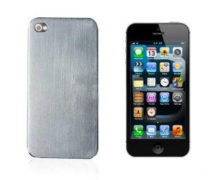 Silver Titanium Alloy Metal Steel Hard Back Case Cover Apple iPhone 5
