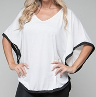 Size 3X SHIRT TOP WOMENS PLUS WHITE BLACK SHORT SLEEVE ROMAN FASHION