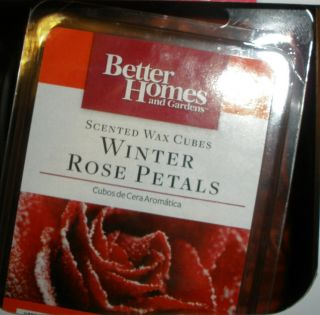SCENTED WAX CUBES WINTER ROSE PETALS BETTER HOMES & GARDENS CHRISTMAS