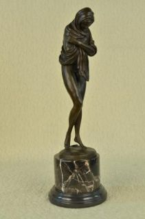 Signed Alonzo Virgin Mary Bronze Sculpture Figurine Statue Figure