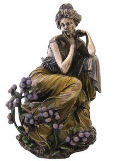 Alphonse Mucha Topaz Precious Stones Art Nouveau Lady Statue Figure