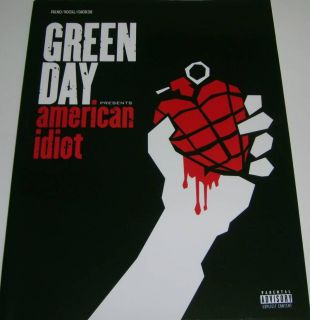 Green Day American Idiot Piano Vocal Chords Song Book