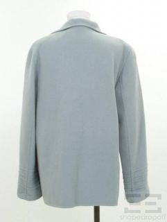 Linda Allard Ellen Tracy Powder Blue Wool Open Front Jacket Size 8