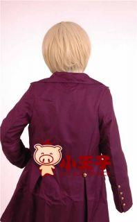 Alois Trancy Kuroshitsuji Short Blonde Straight Cosplay Hair Wig ML143