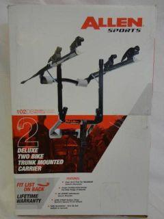 allen sports deluxe 102db two bike trunk mount rack carrier
