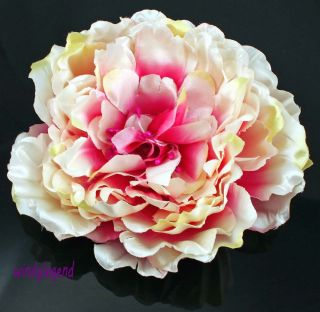 Charming Peony Flower Hair Alligator Clip Brooch Clip Wedding