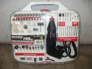 MASTERGRIP 190PC ROTARY TOOL ACCESSORY SET OPEN BOX 7396125