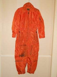 Vtg 1960 Vietnam War USAF Air Force Flying Coveralls Med Reg Pilots