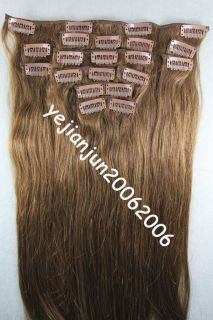 High Quality 3 Size 6 Color Remy 10pcs Clip in Real Human Hair