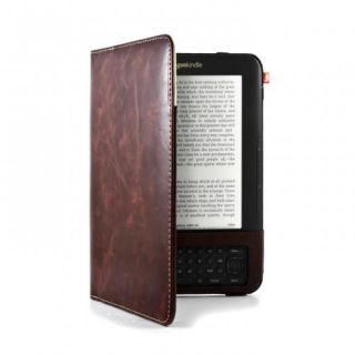 Aluminum Lined Leather Style Case for  Kindle 3   Brown Lifetime