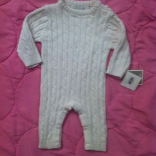 Elegant Baby White Christening Full Body Sweater White Embroidered $40
