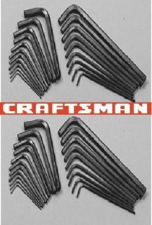 Craftsman SAE Metric Hex Keys New Hand Tools Allen Wrenches Lot