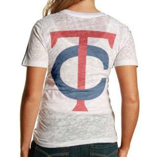 Ladies Minnesota Twins Touch by Alyssa Milano Burnout Shirt Sz M New