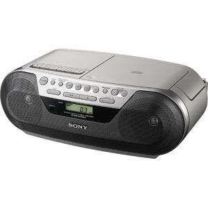 Portable Boombox CD Am FM Radio Cassette Recorder Player CFDS05