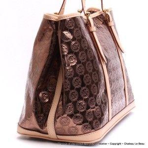 Michael Kors Amagansett Mirror Monogram Tote Bag NEAR MINT Cocoa
