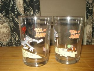 Tom Jerry Cartoon Character Set of Glasses
