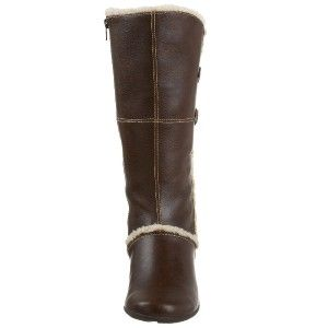 120 Hush Puppies Amarone Women Brown Faux Leather Knee High Boot Sz 6