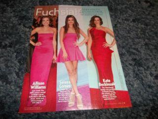 Selena Gomez Allison Williams Kate Beckinsale Fashion Pinup clipping