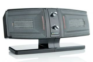 AMBIA SIDE BY SIDE 2 ZONE CERAMIC SPACE ROOM ELECTRIC HEATER