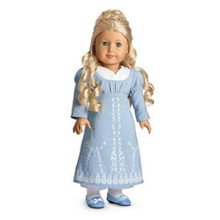 American Girl Doll Caroline Abbott 1812 Birthday Dress New